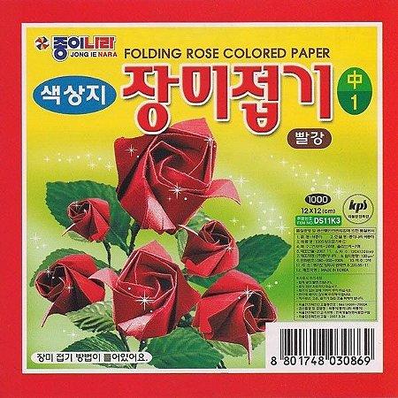 Papel P/ Origami 12x12cm Rosas DS18K201 (35fls)
