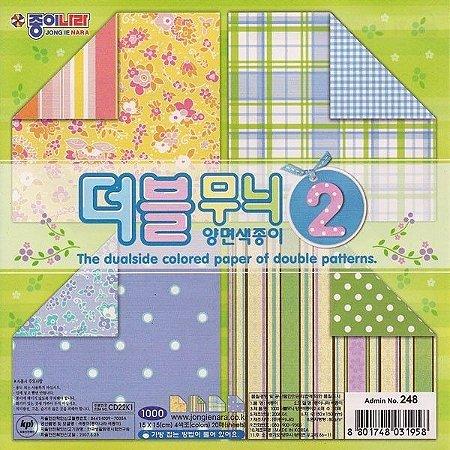 Papel P/ Origami 15x15cm Dupla Face Estampada CD22k1 (20fls)