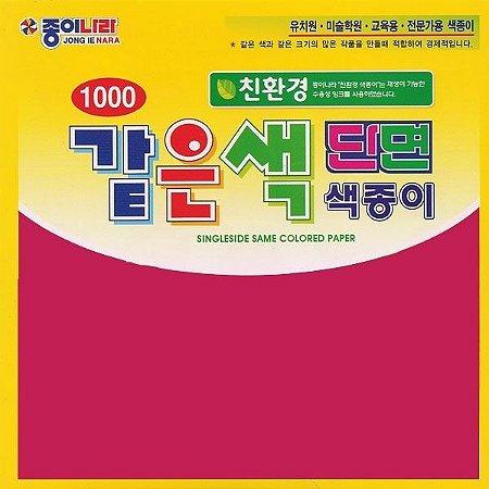 Papel P/ Origami 15x15cm AC11D6-11 Vermelho Bordô Liso Face única (40fls)