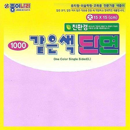 Papel P/ Origami 15x15cm Liso Face única Rosa Claro AC11D622 (40fls)