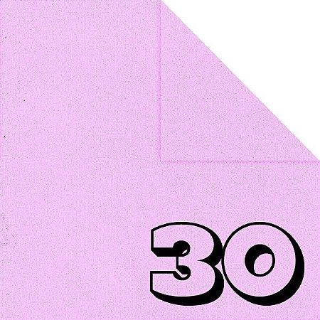 Papel de Origami 15x15cm Liso Dupla Face Rosa Claro AC11Y5-8 (30fls)