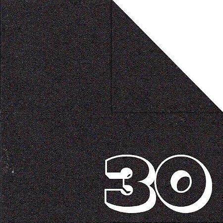 Papel de Origami Dobradura 15x15cm Liso Dupla Face Preto AC11Y4-10 (30fls)