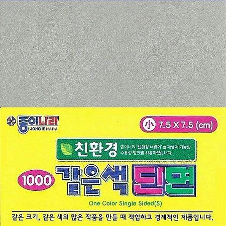 Papel P/ Origami 7,5x7,5cm AC21D5-20 Cinza Liso Face única (80fls)