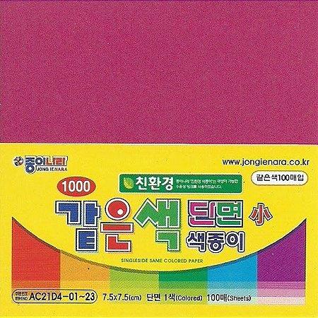 Papel P/ Origami 7,5x7,5cm AC21D5-11 Roxo Avermelhado (80fls)