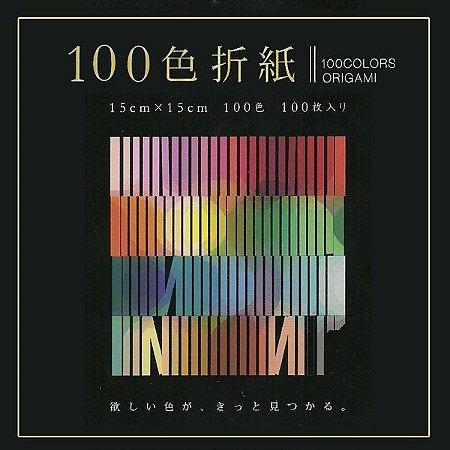 Papel P/ Origami 15x15cm 100 Cores E-100C-04 (100fls)