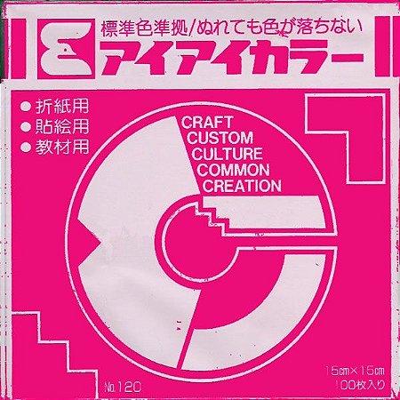 Papel P/ Origami 15x15cm Rosa Choque No. 120 - 15 (100fls)