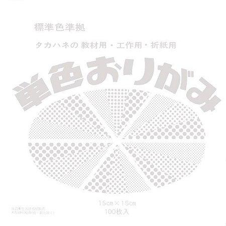 Papel P/ Origami 15x15cm Liso Face Única Branco No. 30 (100fls)