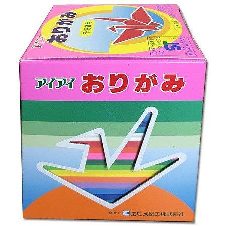 Papel p/ Origami 7x7cm Liso Face única Senbazuru No. 26 Ehime Shiko (1000fls)