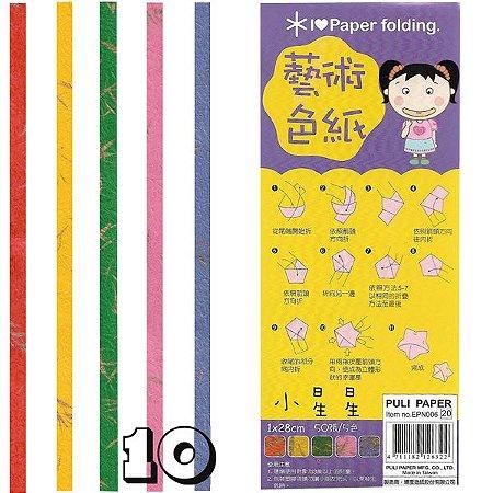 Papel para Origami 1x28cm Puli Paper EPN006 (50fls)