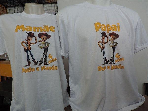 Camiseta Adulto Personalizada por sublimação.
