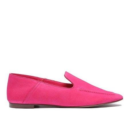 Mocassim Schutz Básico Nobuck Rosa Pink - S2071000230032