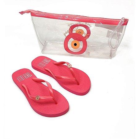 Chinelo Santa Lolla Kit Necessaire Pink - 70032CAD00160307