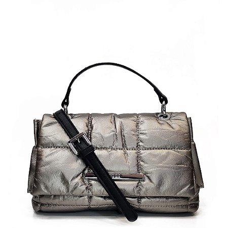 Bolsa Santa Lolla Matelasse Prata Onix - 045231BD004201BA