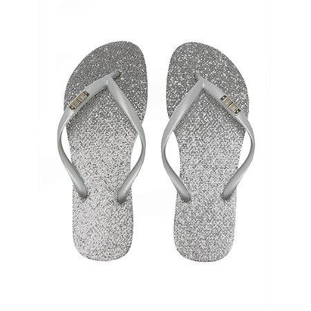 Chinelo Santa Lolla Glitter Prata - 7003193301F40023-1