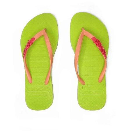 Chinelo Santa Lolla Neon Verde/Rosa - 042B2AA3001602CC