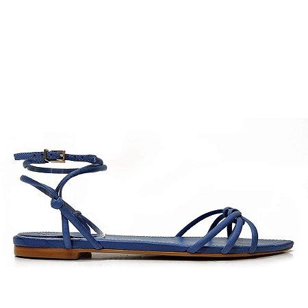 Rasteira Schutz Solado Folha Azul Jeans - S2057100780003