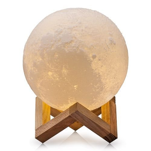 Luminária realística Lua 3D