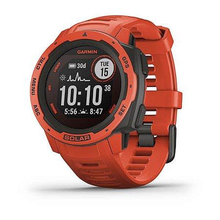 Relogio Smartwatch Garmin Instinct Solar red