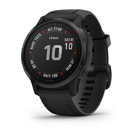 Relógio Pulso Gps Garmin Fenix 6s Pro preto