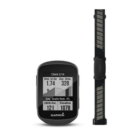 Gps Garmin Edge 130 Plus Bundle C/ Monitor E Cinta Cardiaca