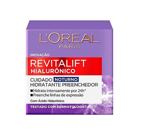 Creme Noturno Anti-idade L'Oréal Paris - Revitalift Hialurônico 49g