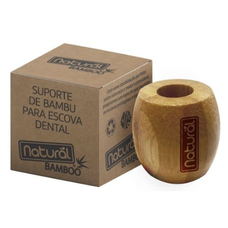 Suporte de Bambu para Escova Dental - Orgânico Natural