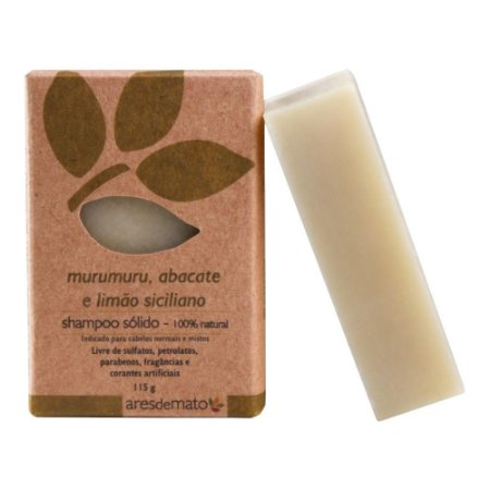 Shampoo Sólido Murumuru, Abacate e Limão Siciliano 115g - Ares de Mato