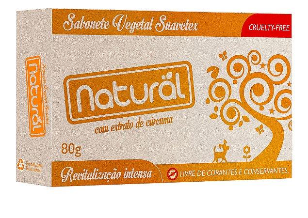 Sabonete em Barra com Extrato de Cúrcuma 80g - Natural