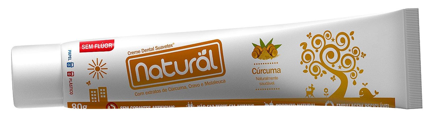 Creme Dental Extratos de Cúrcuma, Cravo e Melaleuca 80g - Natural