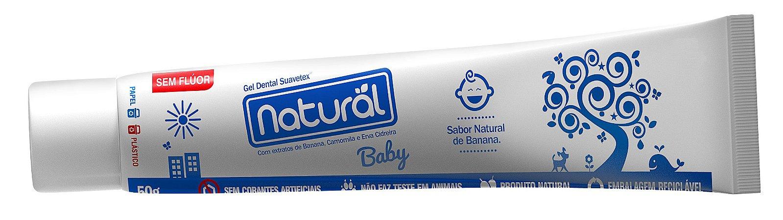 Gel Dental Baby Extratos de Banana, Camomila e Erva-Cidreira 50g - Natural