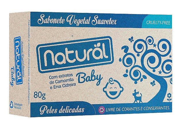 Sabonete em Barra Baby Extratos de Camomila e Erva-Cidreira 80g - Natural