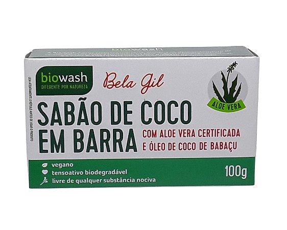 Sabão em Barra de Coco 100g - Biowash