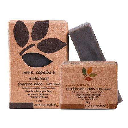 Kit Shampoo e Condicionador em Barra - Cabelos Normais e Oleosos - Ares de Mato