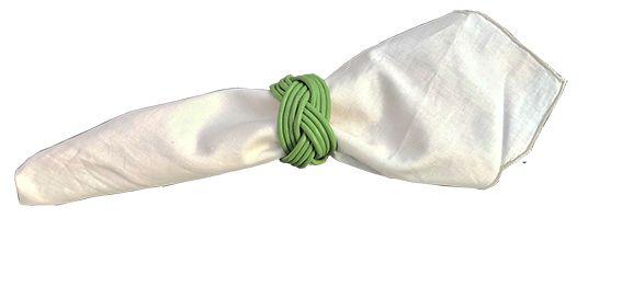 4 peças-porta guardanapo Madeleine verde
