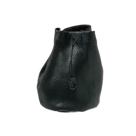Embalagem de couro para bolsa preto