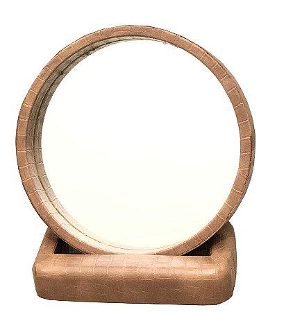 Espelho portátil caramelo