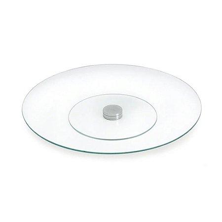 Prancha Giratória Redonda para Mesa Transparente Decorglass