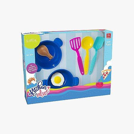 Kitchen Alive Panelinhas com 7 Peças Mielle Brinquedos