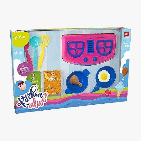 Kitchen Alive Panelinhas com 10 Peças Mielle Brinquedos