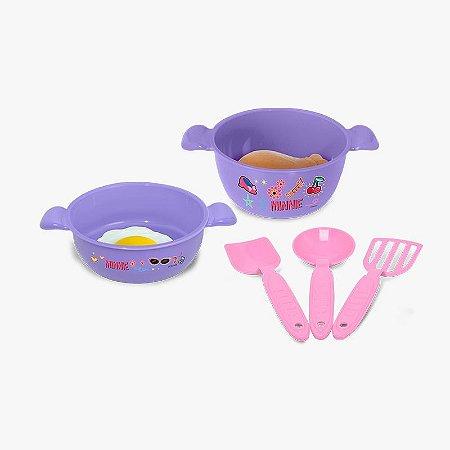 Kit Comidinhas da Minnie 7 Peças Mielle Brinquedos