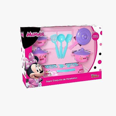 Super Conjunto Panelinhas Minnie 12 Peças Mielle Brinquedos