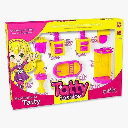 Mini Banheiro Tatty Fashion 7 Peças Mielle Brinquedos