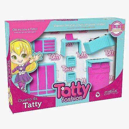 Mini Quarto Tatty Fashion 7 Peças Mielle Brinquedos