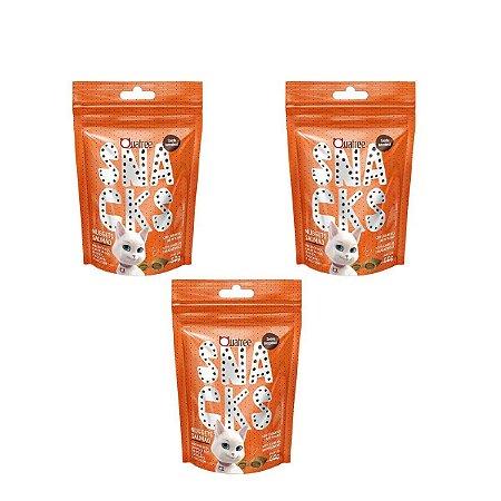 Kit 3 Petiscos Snacks Nuggets Gatos Saúde Intestinal 60g Quatree