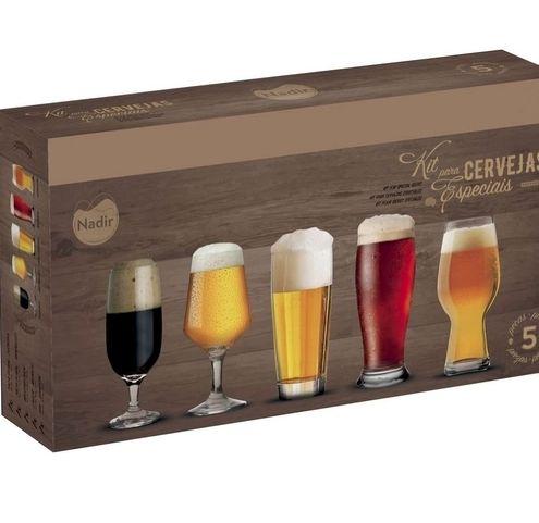 Kit Copos Cerveja Especiais 5 Peças Nadir