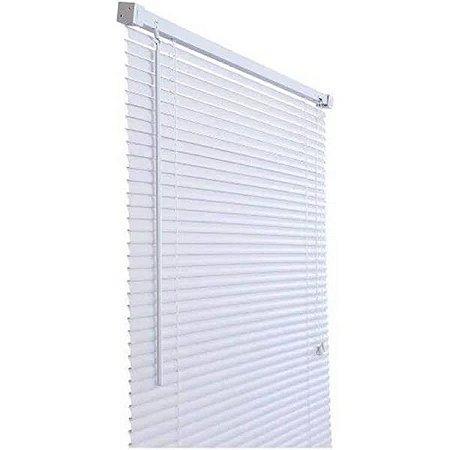 Persiana 80X130 Horizontal em PVC Branco Atlas