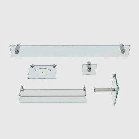 Kit Acessórios para Banheiro Incolor 5 Peças VMEX