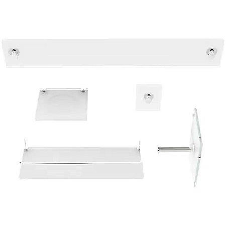 Kit Acessórios para Banheiro Branco 5 Peças VMEX