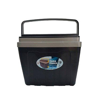 Caixa Plástica Térmica Cooler com Alça 16 Litros Pop Star