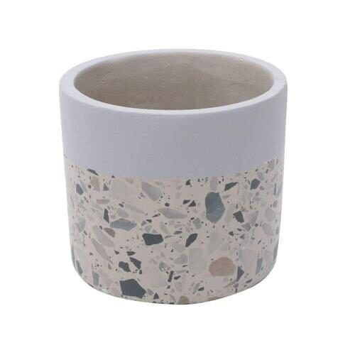 Cachepot Concreto Granilite Fóssil Stardust 9x9x8cm Urban